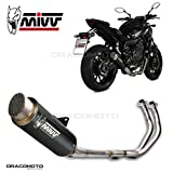 Mivv Scarico Completo 2x1 YAMAHA MT-07 2014 > GPpro STEEL BLACK ALTO/High up