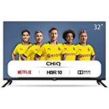 "CHiQ Televisor Smart TV LED 32"" HD, WiFi, Bluetooth (Solo Auriculares y Altavoces), Netflix, Prime Video, Youtube, Facebook, USB, L32H7N"