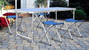 mesa de camping plegable easy